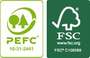 Bois PEFC, FSC